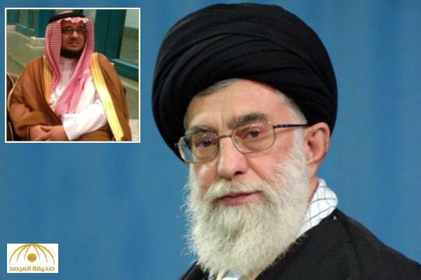 """خالد آل سعود مهاجما """" مرشد إيران"""" : يا ليت من يصب بنزين على هالعمامة و يولع في لحيتك يا عدو الله"""