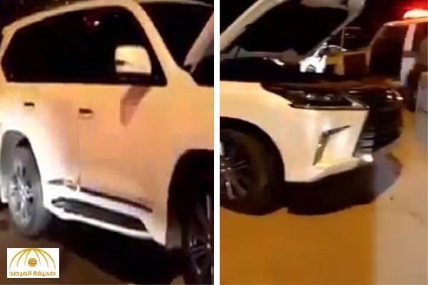 بالفيديو .. رجل أمن يوثق تفاصيل القبض على لص قام بسرقة جيب لكزس2016
