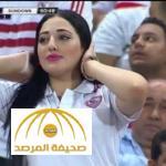 """بالصور:تعرف على الحسناء """"المصرية"""" التي خطفت الأنظار في مباراة الزمالك بنهائي إفريقيا"""