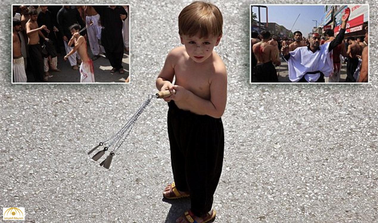 """بالصور: أطفال شيعة مصابون بعد جلد أنفسهم بالسلاسل.. وصحيفة بريطانية تسأل: """"هل يفهمون ما يفعلونه؟"""""""