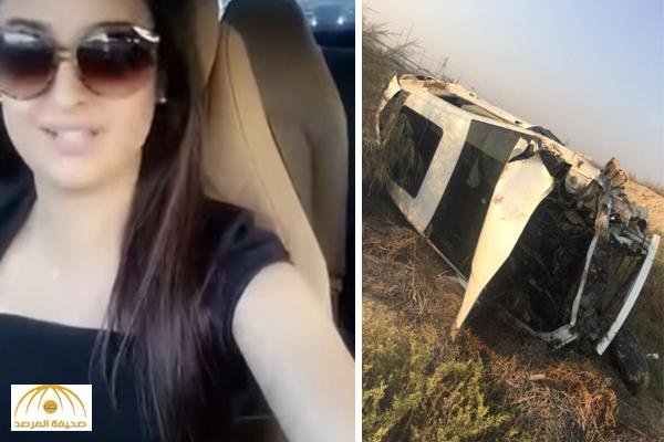 بالصور والفيديو .. تعرّض الاعلاميّة علا الفارس لحادث سير مروع