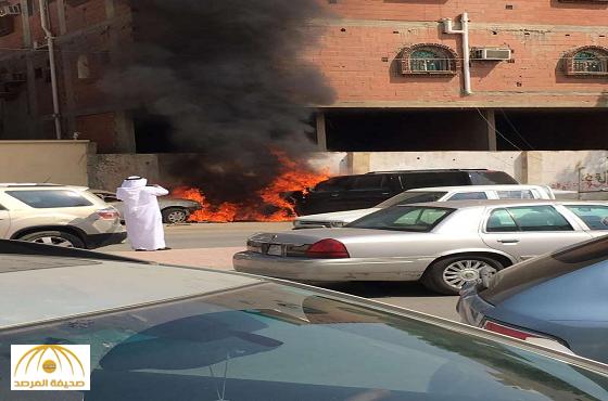 القبض على 4 طلاب متهمين بحرق سيارة مدير مدرسة بجدة