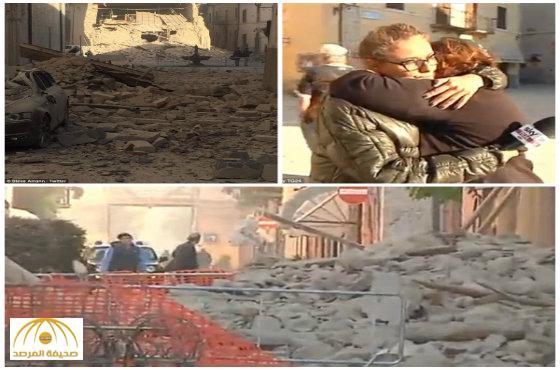 زلزال بقوة 7.1 درجة يضرب وسط إيطاليا-صور