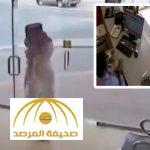 بالفيديو .. مُلَثَّم يسطو على محل ويهدد البائع بسلاح ناري