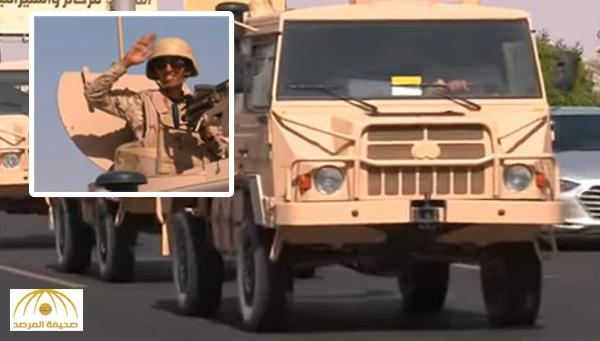 بالفيديو : وصول وحدات قتالية متطورة لتعزيز قوات الحرس الوطني بالشريط الحدودي