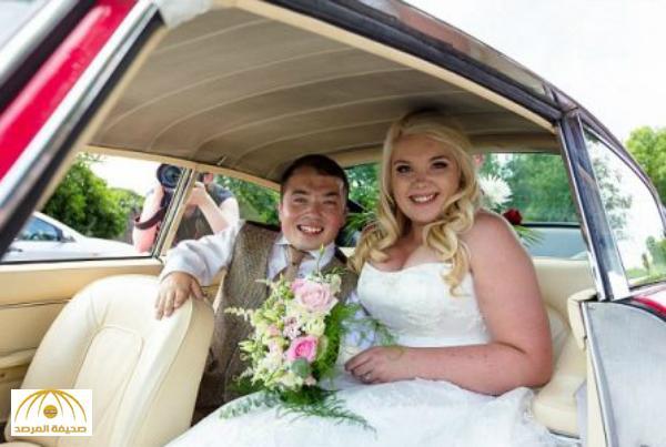 بالصور : عريس يستخدم سلم للوصول لعروسه يوم الزفاف