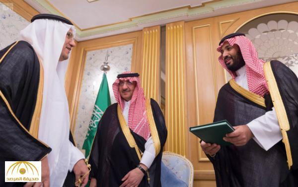 بالصور : ولي العهد وولي ولي العهد يتسلمان نسختين من التقرير السنوي لمؤسسة النقد السعودي