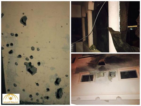 بالصور: مقذوف حوثي يصيب مواطن في نجران