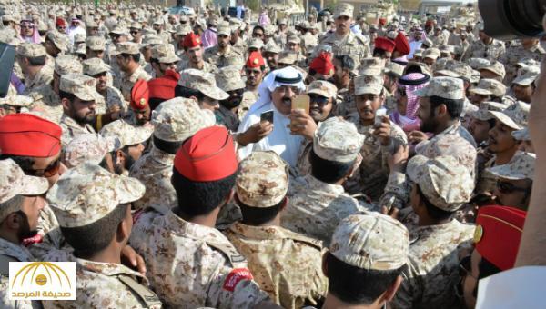 بالصور: الأمير متعب بن عبدالله يستقبل قوات الحرس الوطني العائدة من نجران