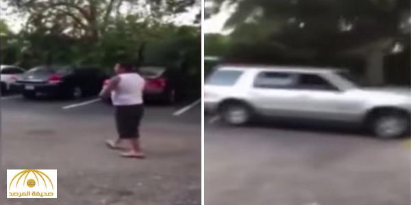 بالفيديو : حاول مساعدة شقيقه خلال مشاجرة فدهسه بالسيارة !