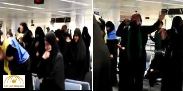 """بالفيديو : مجلس """" لطم """" في مطار بيروت يثير غضب المتواجدين !"""
