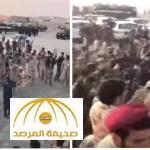 """بالفيديو : رقص """"العرضة"""" احتفاءً بحضور ولي العهد في ختام تمرين أمن الخليج"""
