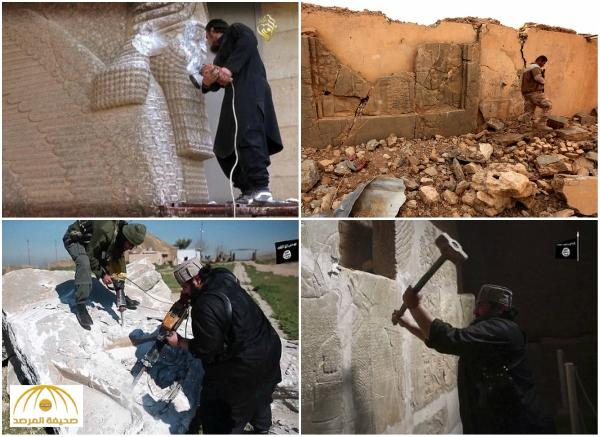 شاهد بالصور كيف دمر داعش مدينة أثرية بالعراق