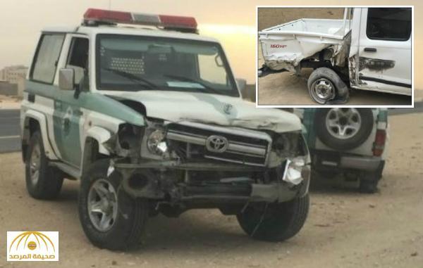 """مرور القريات يكشف تفاصيل اصطدام """"معاكس سير"""" لدورية أمن و إصابة اثنان من أفرادها"""