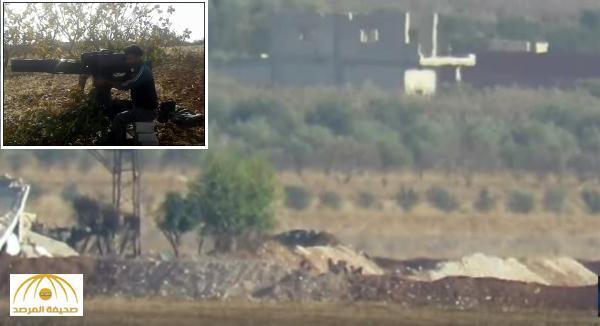 شاهد: فيديو جديد لصاروخ تاو يباغت مجموعة من ضباط الأسد بريف حماة