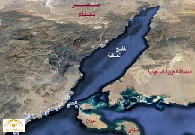 """خريطة مصورة بالأقمار الاصطناعية تثبت سعودية"""" تيران وصنافير"""""""