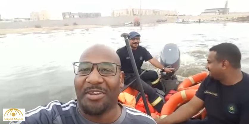 بالفيديو: الأمطار تحوّل حياً بالأحساء لبحيرة.. ومواطن يوثق ما حدث لمنزله!