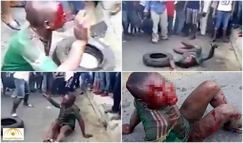 بالصور.. حرق طفل نيجيري بطريقة بشعة