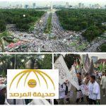 بالصور : إندونيسيا ..أكثر من 200 ألف يتظاهرون ضد حاكم جاكرتا المسيحي