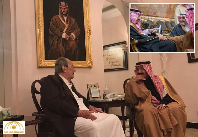 """الأمير خالد بن طلال مازحاً: خوفي من""""الفغم"""" منعني من تقبيل يد خادم الحرمين-صور"""