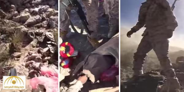 بعدما سيطروا على شعيب القوب .. بالفيديو : جنود الجيش السعودي يفجرون ألغام زرعها الحوثي