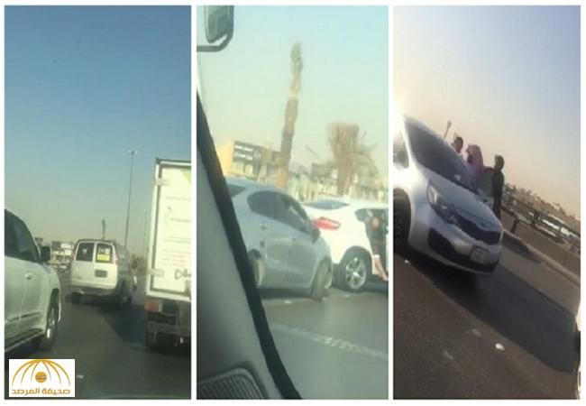 بالفيديو: شاب يغازل معلمات على طريق عام والمارة يعتدون عليه بالضرب