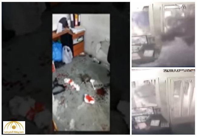 بالفيديو:لحظة تعد 5 كويتيين بالضرب على عامل مصري