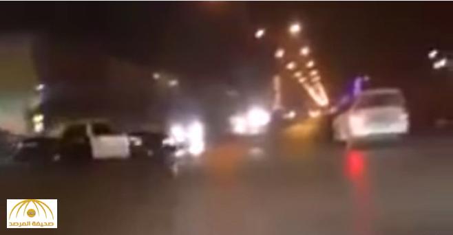 """ضبط """"حدث"""" مارس التفحيط بسيارة والدته أمام دورية تابعة للأمن بالرياض"""