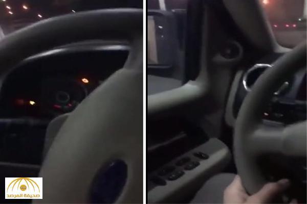بالفيديو : لحظة هروب شاب بسيارته بعد تعبئتها بالوقود