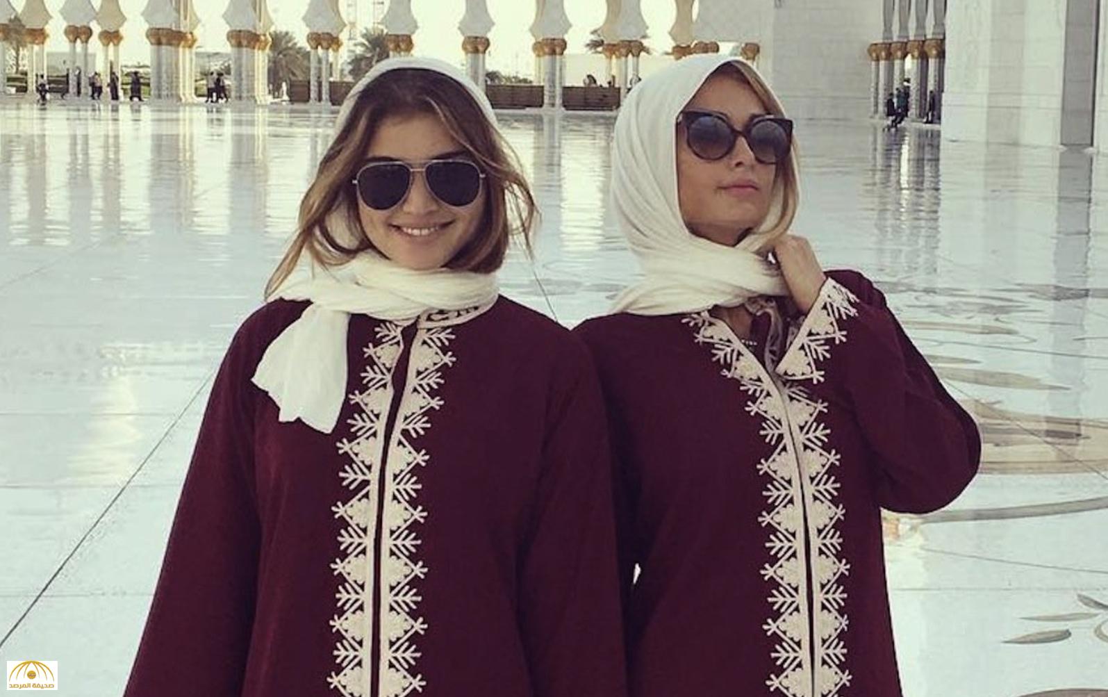 """بالصور:""""باريس هيلتون"""" ترتدي الحجاب وتزور أشهر مساجد الإمارات"""