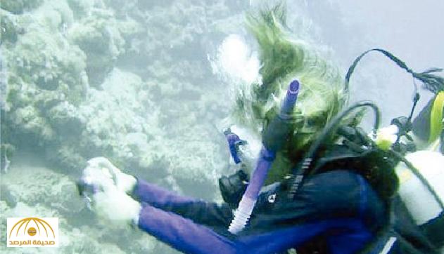 """شرطة جدة تضبط """"امرأة"""" ظهرت في أعماق البحار برفقة """"مدرب غوص"""" !"""