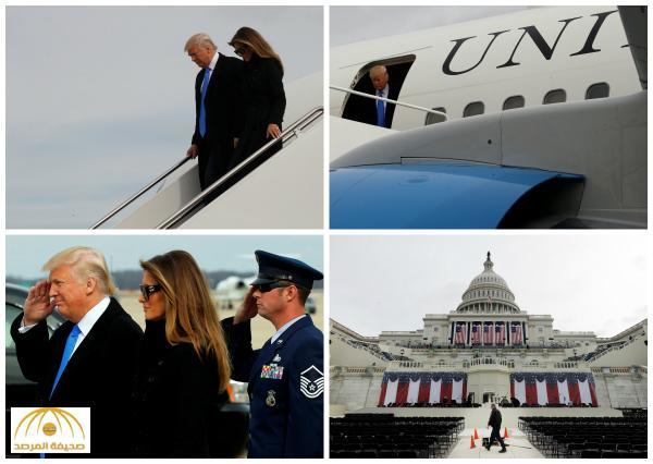بالصور : ترمب يصل واشنطن عشية تنصيبه رئيساً للولايات المتحدة