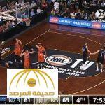 بالفيديو : لحظة خروج عين لاعب كرة سلة نيوزلندي من مكانها