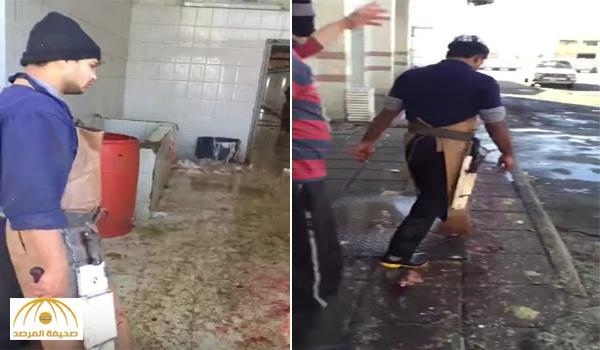 كشف طريقة إخفاءها .. بالفيديو : مواطن يوثق لحظة سرقة أجزاء كبيرة من ذبيحته بحائل