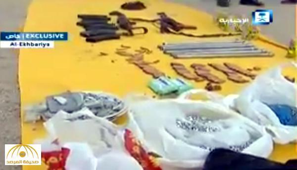 """""""المضبوطات تكشف عن الكثير"""" .. شاهد: ماذا وجدت قوات الأمن في وكر الإرهابيين اليوم!"""