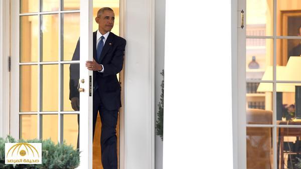 """بالفيديو .. لحظة توديع أوباما لـ """"البيت الأبيض"""" .. هكذا وصف شعوره ولخص رسالته في """"كلمتين"""" !"""
