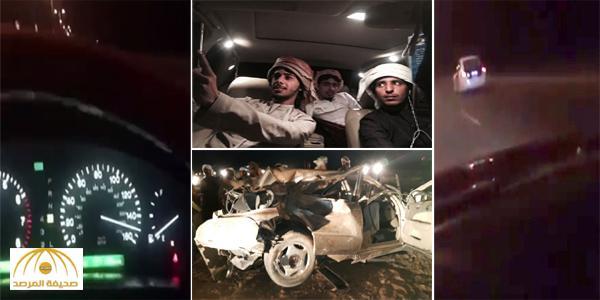 بالفيديو والصور : نهاية مأساوية لشباب عُمانيون تجاوزوا سيارة شرطة بسرعة جنونية في مسقط