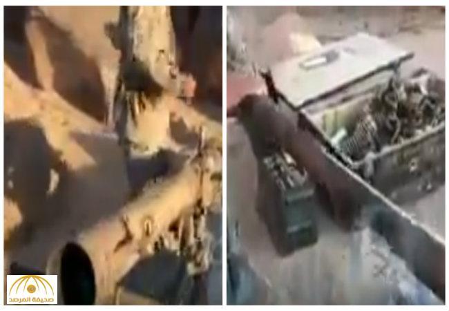 بالفيديو:القوات السعودية تصادر مدافع خفيفة وثقيلة والعديد من الذخائر من الحوثيين في مواقع حدودية