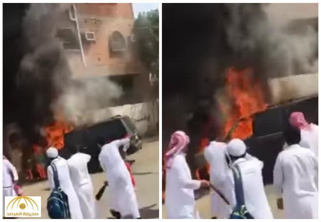 فيديو: محاكمة طلاب أحرقوا سيارة قائد مدرستهم بجدة