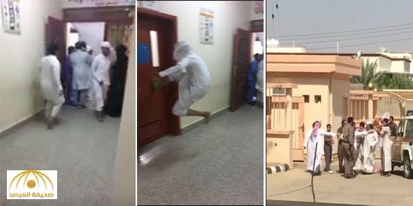 """"""" احتمى بالغرفة فحاولوا كسر الباب"""".. بالفيديو : تفاصيل الهجوم على طبيب بمركز صحي في بيشة !"""