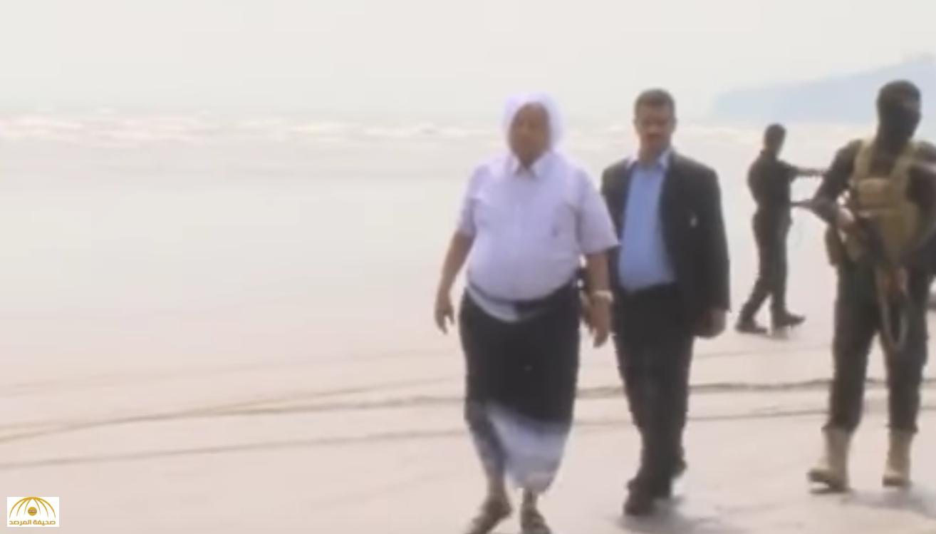 بالفيديو: الرئيس هادي يزور شواطئ عدن