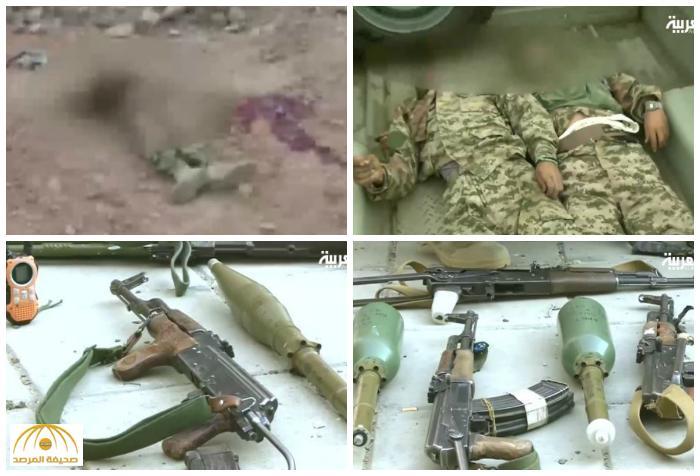 """دماء """"حوثية"""" تلوث الحدود السعودية .. تفاصيل معركة ليلية كلفت الميلشيات """"قتلى"""" وأفقدتهم معداتهم الثقيلة ! – فيديو"""