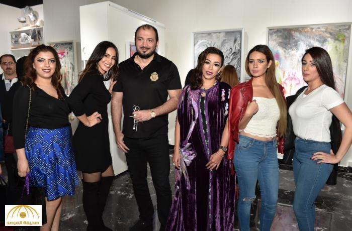 بالصور: بحضور الفن و الاعلام الفنانة التشكيلية لمياء منهل تقيم معرضها في دبي
