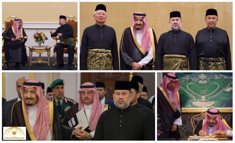 بالصور : خادم الحرمين الشريفين يُشرف حفل العشاء الذي أقامه ملك ماليزيا