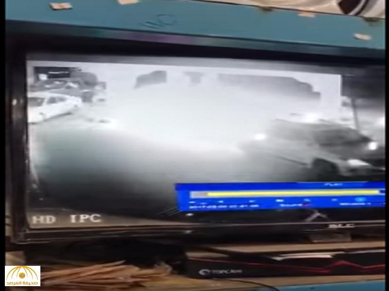 فيديو يوثق لحظة انفجار مضخة وقود بالمجمعة