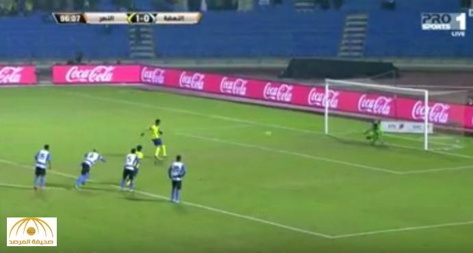 بالفيديو : النصر يهزم النهضة بهدفين دون مقابل