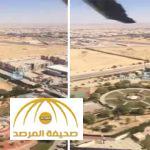 """شاهد """"لقطات جوية"""" لمدينة """"الدلم"""" الغارقة في مياه الأمطار .. وأمير الرياض يزورها طائرًا !"""