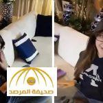 """بالفيديو : لجين عمران تفاجىء شقيقتها """"أسيل"""" بهدية """"الفالنتاين"""""""