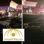 بالفيديو : شاهد الأضرار التي خلَّفتها صاعقة قوية ضربت محطة وقود بأبها