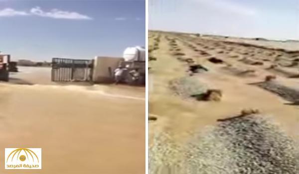 بالفيديو : السيول تكشف القبور بالدلم و الثليماء في الخرج